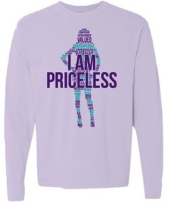 I am priceless long sleeve pink